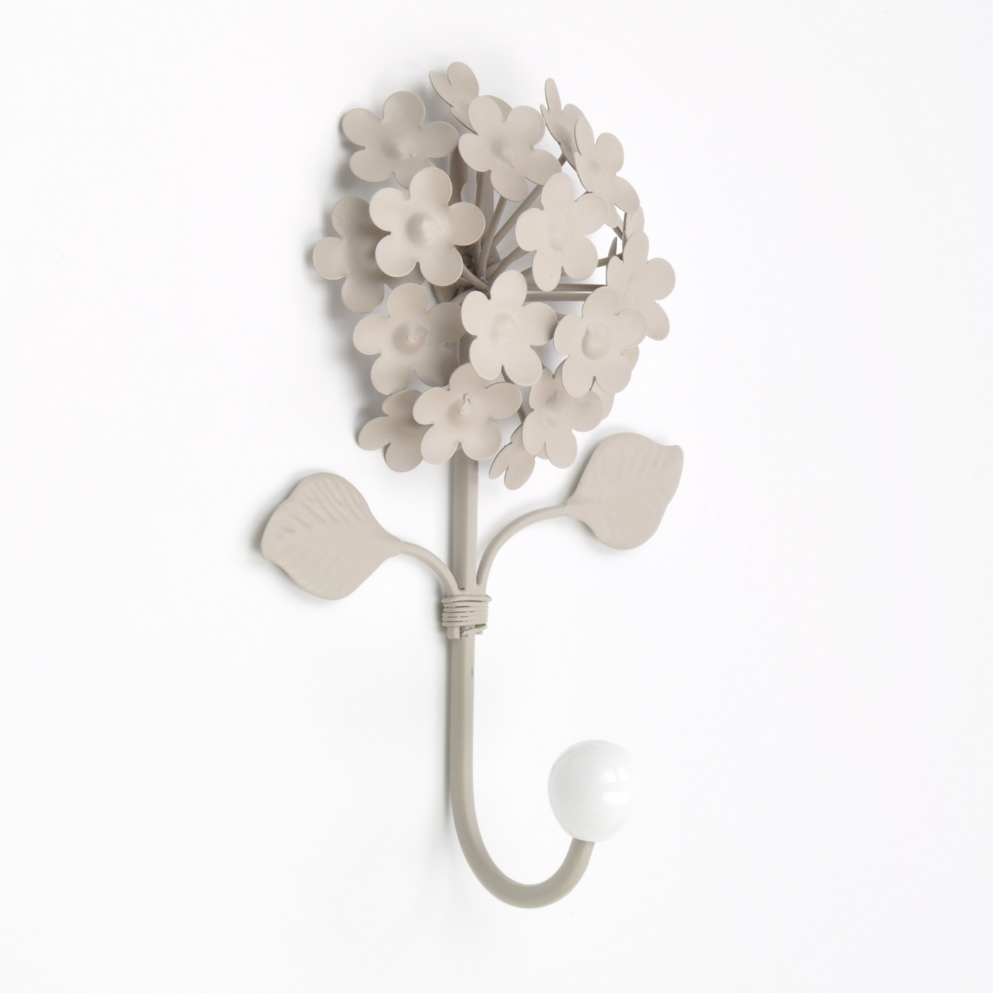 Flower coat hooks white flowers wall hook metal flower Hooks for the wall