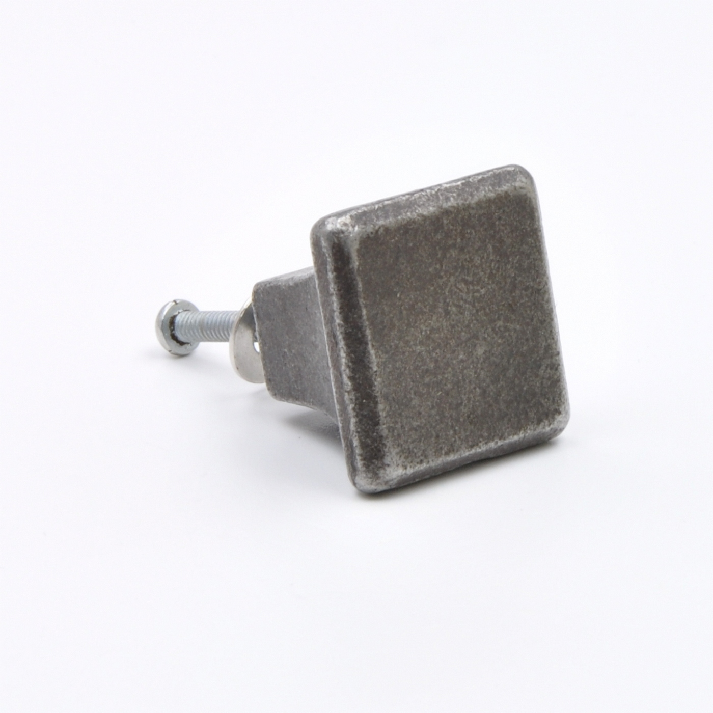 square metal cabinet knob solid metal knobs grey square knobs heavy