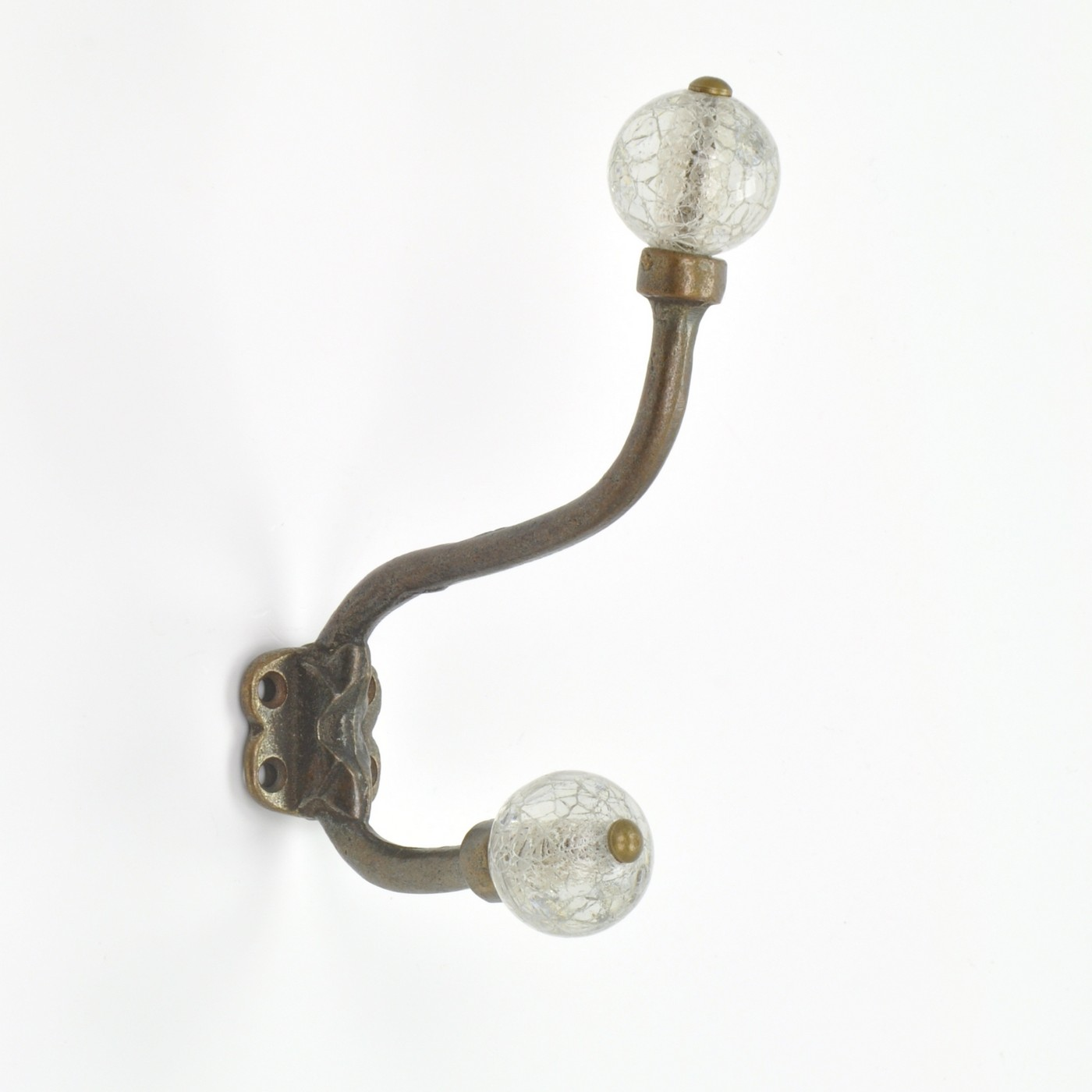 Crackled Glass Wall Hook Pretty Vintage Glass Hook