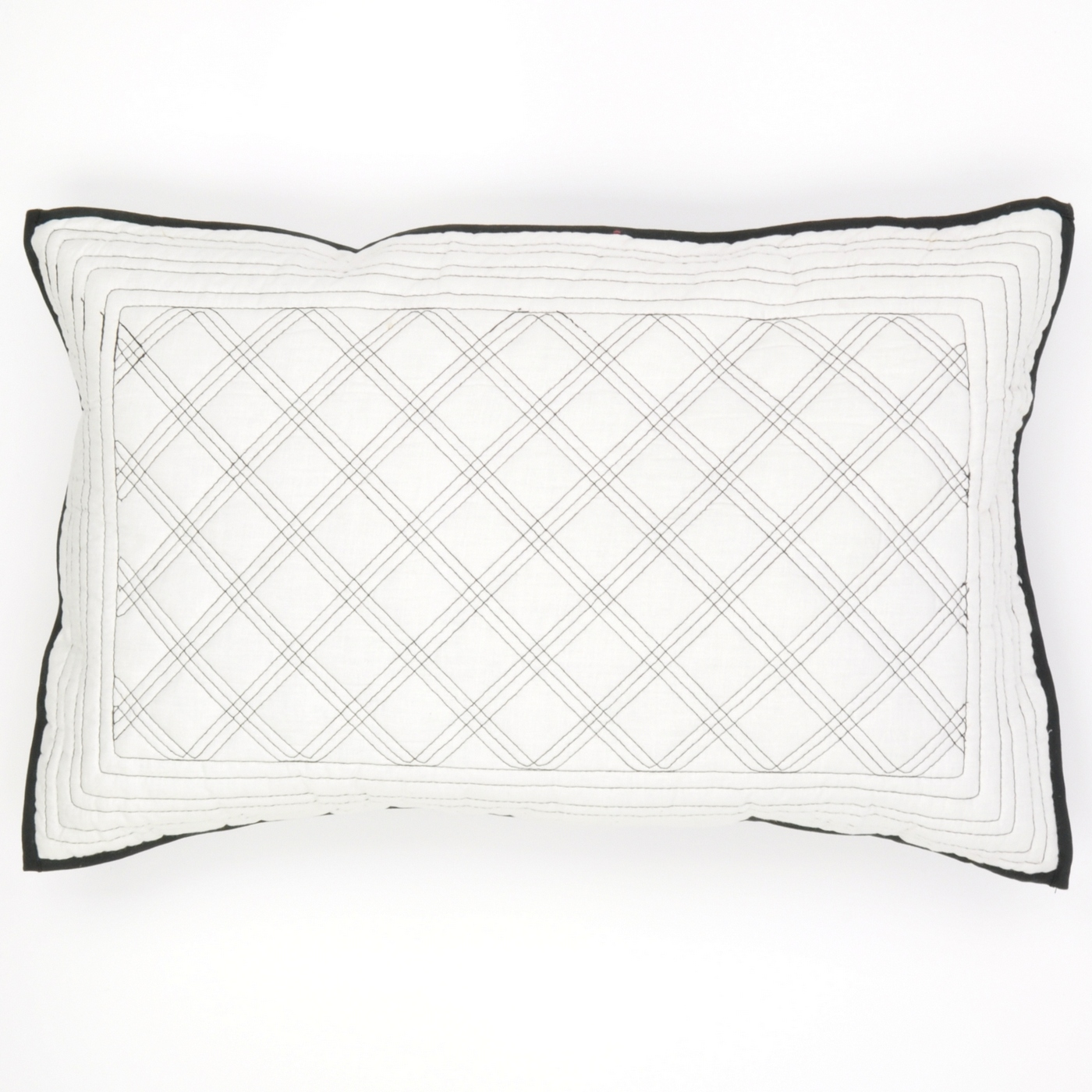 Large Black And White Pillow Cushion