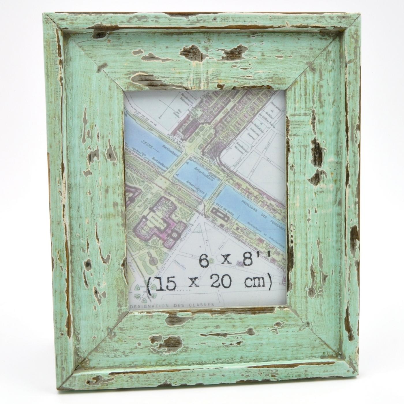 distressed coastal vintage wooden photo picture frame ebay. Black Bedroom Furniture Sets. Home Design Ideas
