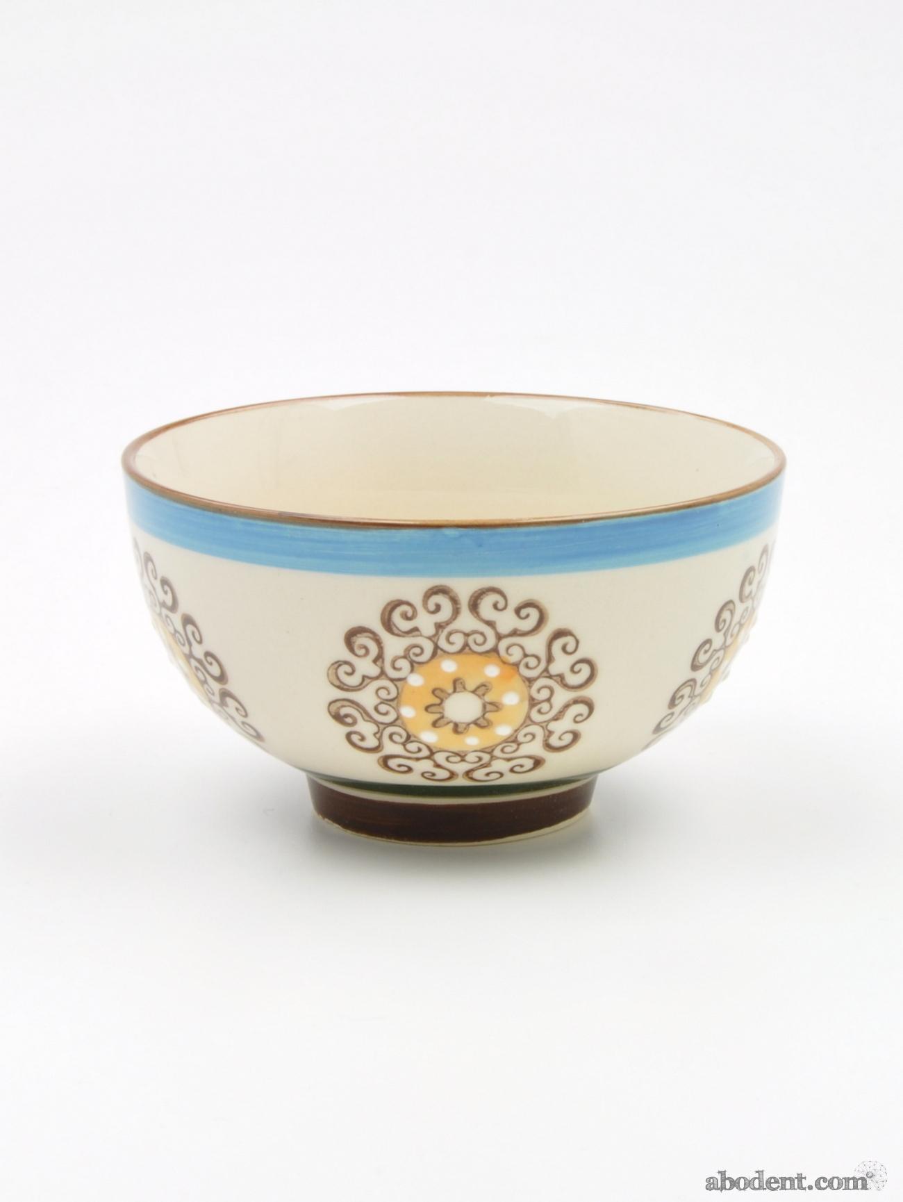 Decorative Small Painted Ceramic Decorative Bowls Sun