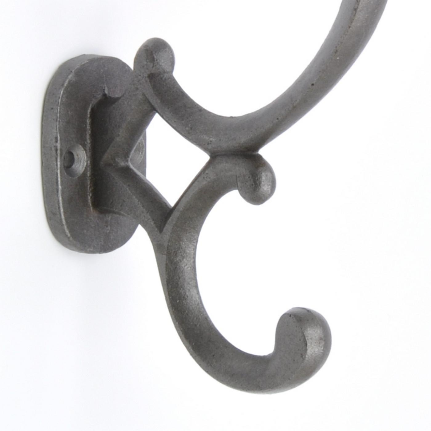 Classical Decorative Grey Metal Coat Hook Hooks Wall ...
