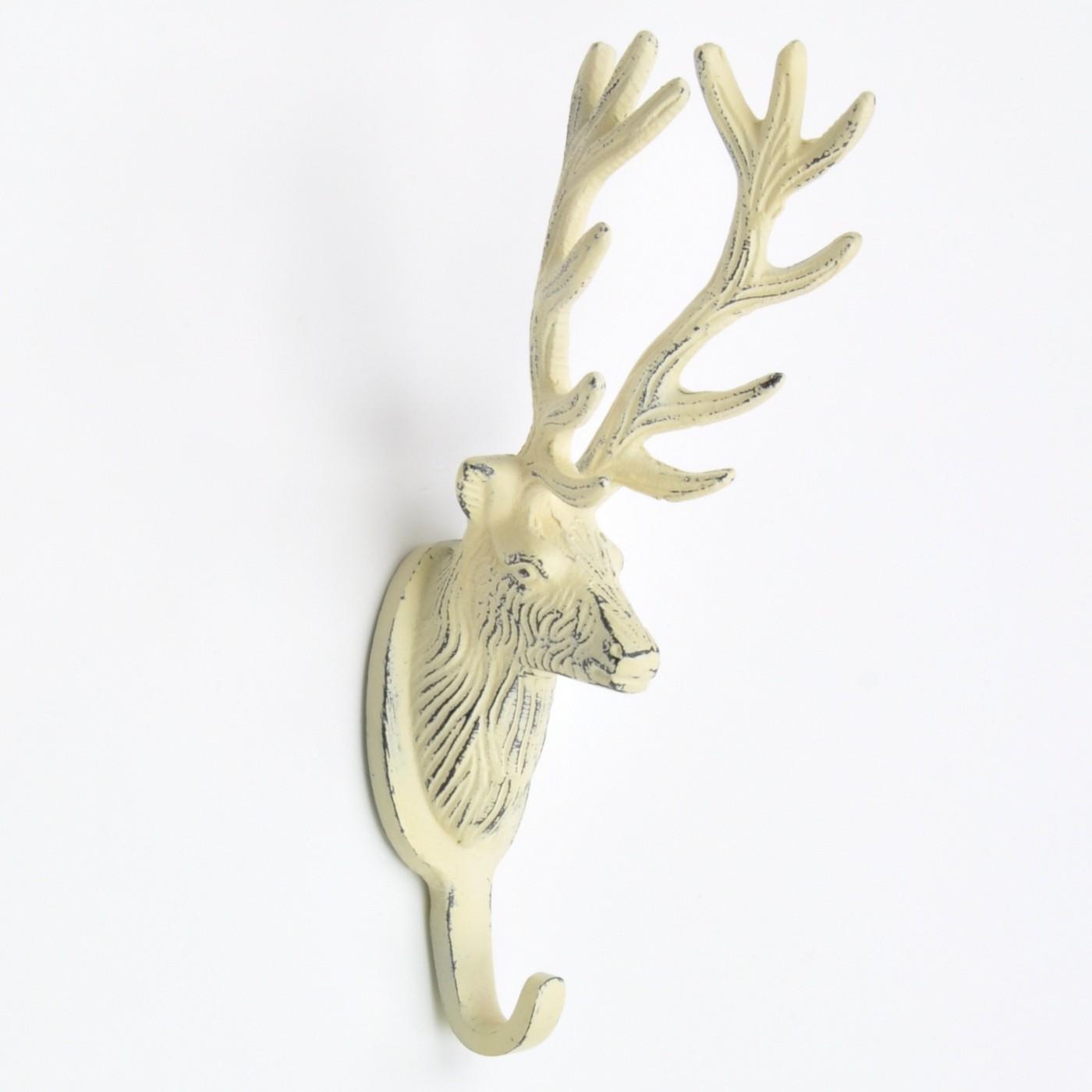 Stag Mount Coat Hook Deer Antler Wall Hook Abodent Com