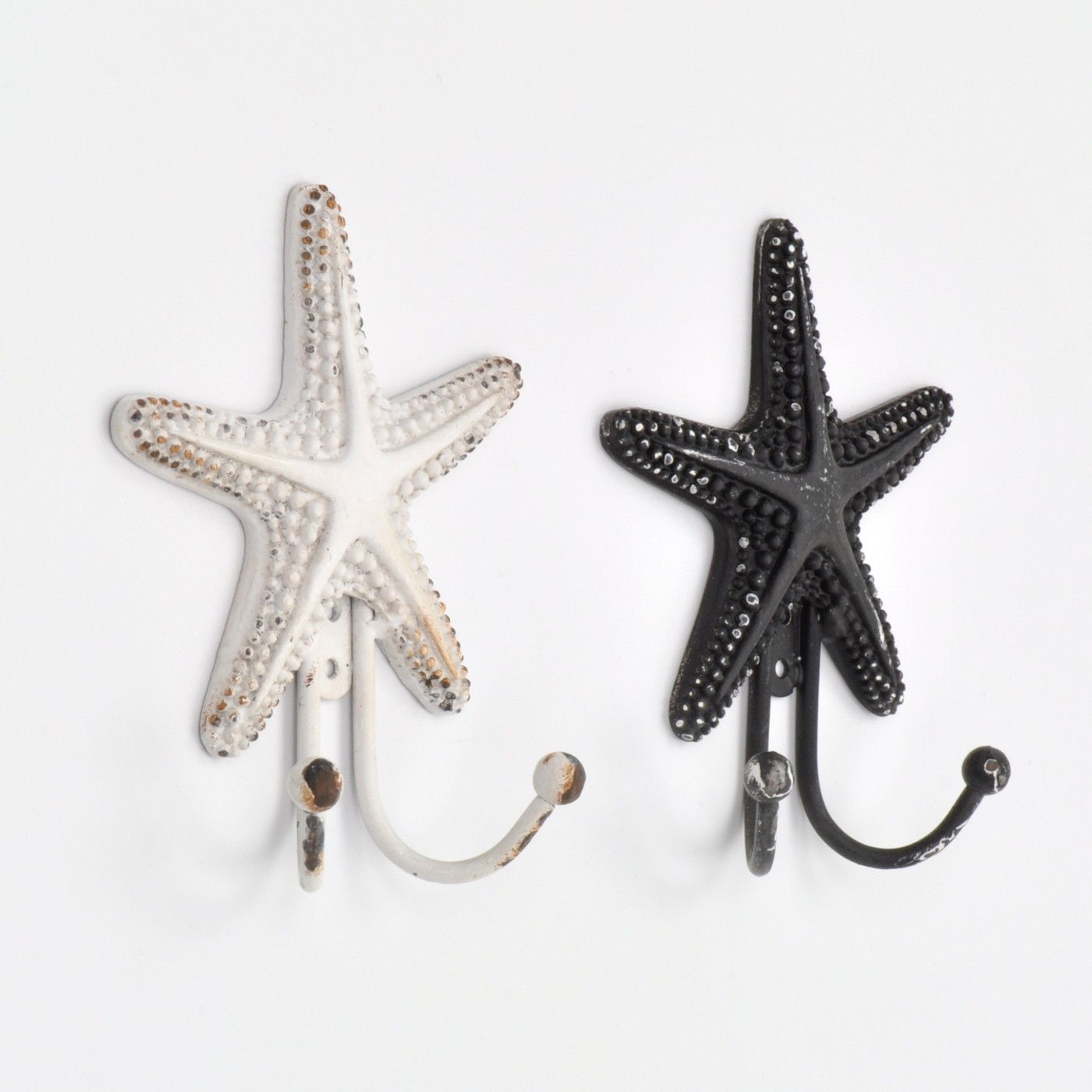 Coastal Sea Star Fish Coat Hook Hooks Wall Mounted Door