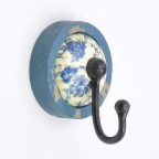 Floral Moment Coat Hook - Blue