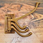 Antique Brass Pivot Coat Hook