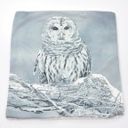 Winter Owl Cushion Cover