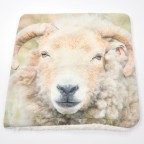 Woolly Sheep Ram Face Cushion Cover