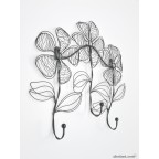 Sketched Flower Coat Rack