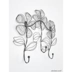 Sketched Flower Coat Rack