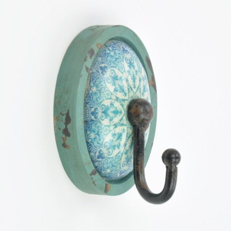 Retro Patterned Coat Hook