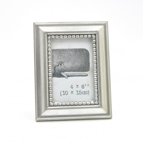 Silvered Photo Frame - 4 x 6''
