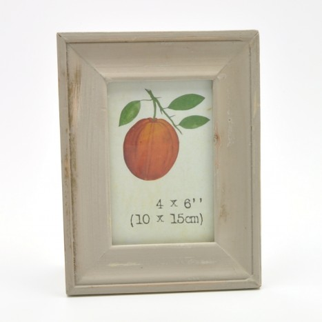 Simple Brown Painted Wooden Picture Frame