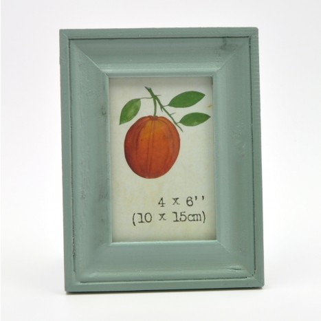 Simple Green Painted Wooden Picture Frame