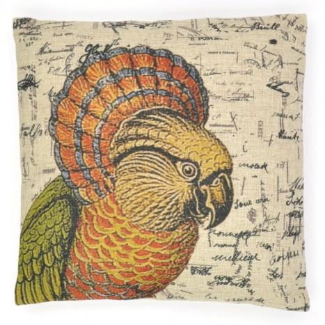 Red-Fan Parrot Cushion