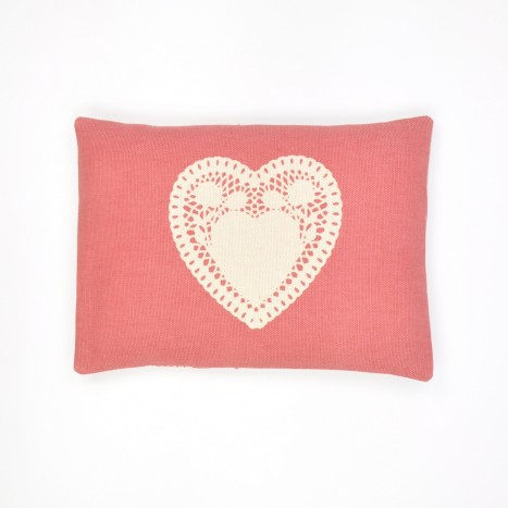 Doily Heart Cushion