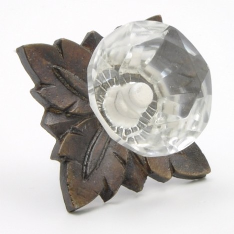 Large Crystal and Metal Knob