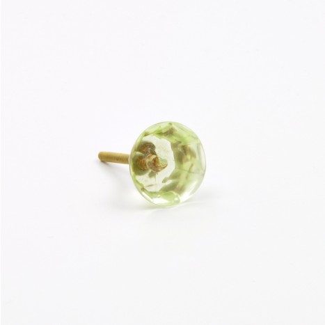 Mini Coloured Gems Cupboard Knob - Green