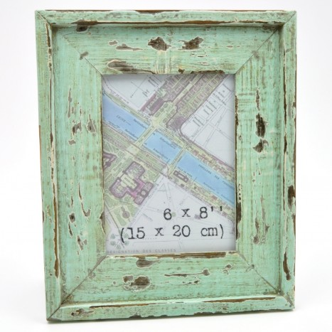Distressed Green Wooden Picture Frame
