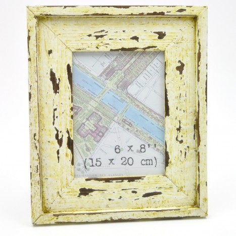 Distressed Cream Wooden Picture Frame
