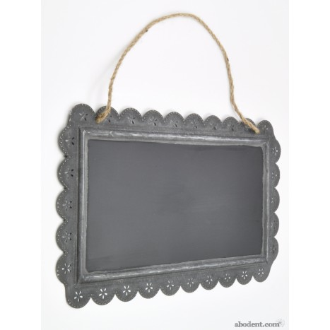 Large Lace Border Black Board