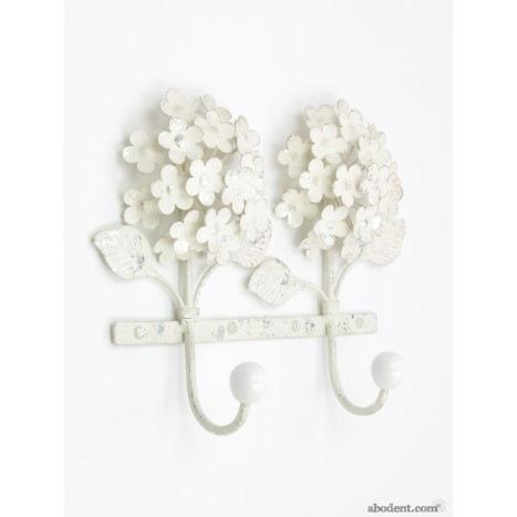 Cream Flower Coat Rack