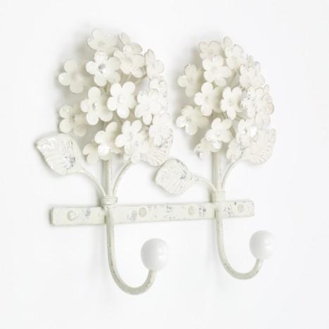 Cream Flower Coat Rack