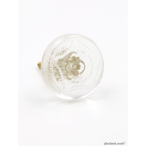 Pressed Glass Cupboard Knob