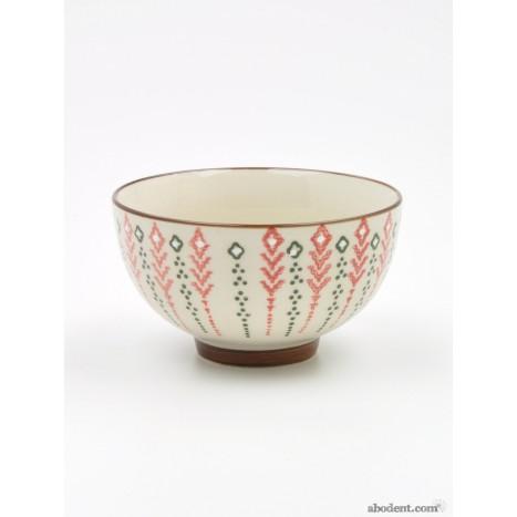 Coloured Flower Bowl