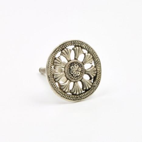 Round Silver Drawer Knob