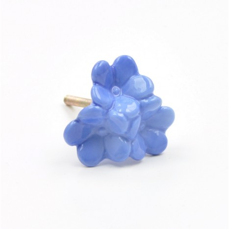 Cute Blue Flower Cabinet Knobs