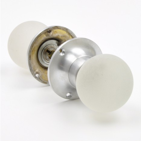White Glass Mortice Knobs