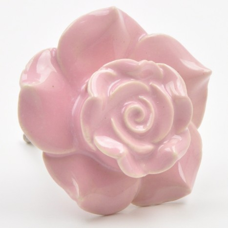 Large Pink Flower Cupboard Knobs