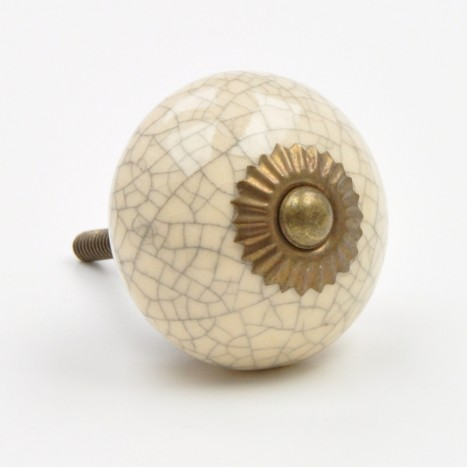 Crackled Dove Egg Cabinet Knob