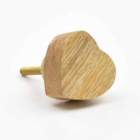 Wooden Heart Knobs
