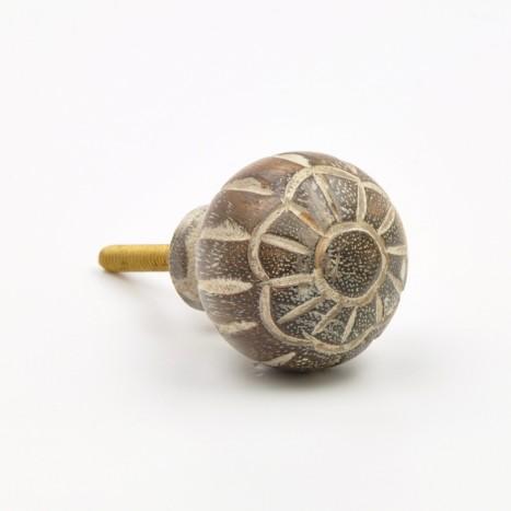Carved Wooden Knob