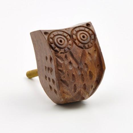Carved Wooden Bird Knob
