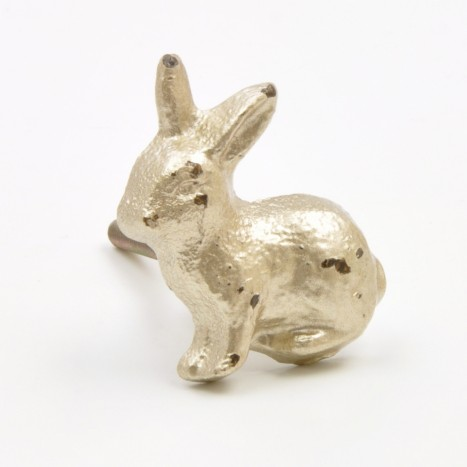 Silver Metal Rabbit Knob