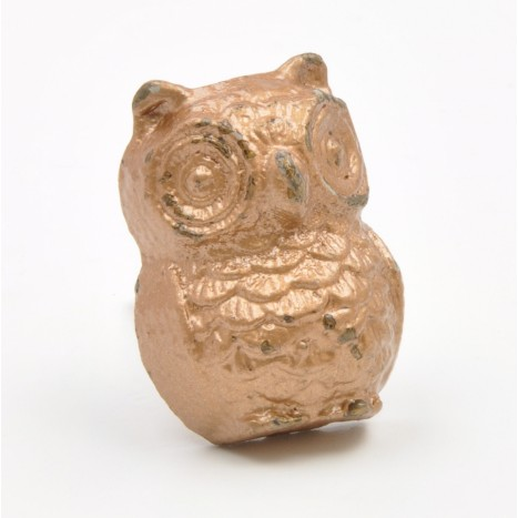 Alloy Owl Cupboard Knob - Copper