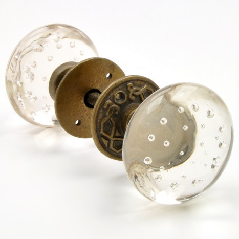 Bubble Glass Mortice Handles