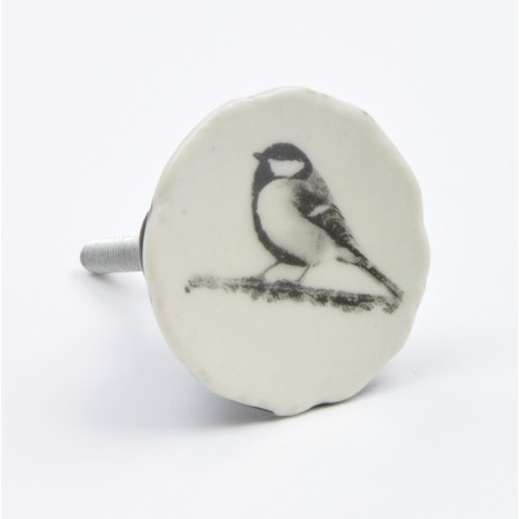 Small Bird Design Ceramic Knob