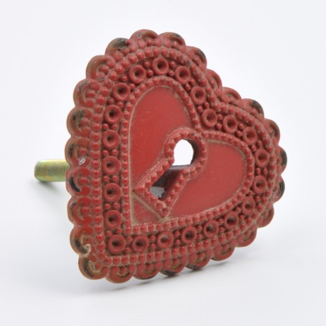 Unlocked Heart Cupboard Knob