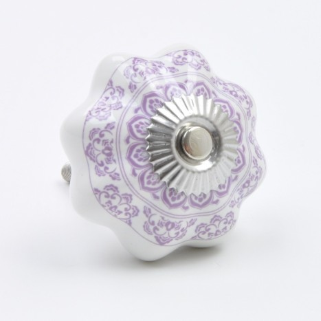 Decoratively Purple Patterned Knob