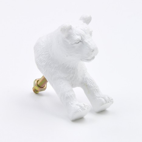 Ceramic Lion Drawer Knob