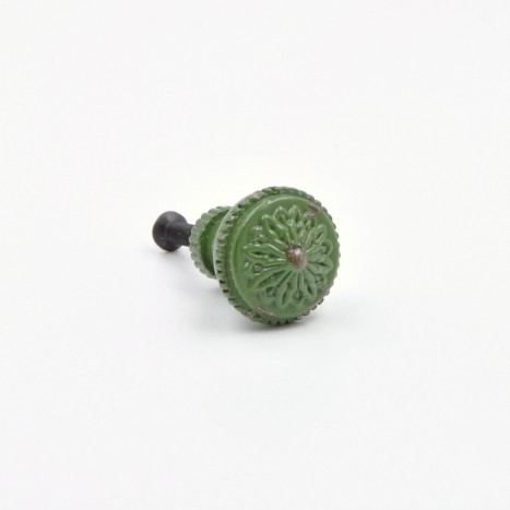 Small Dark Green Vintage Knobs