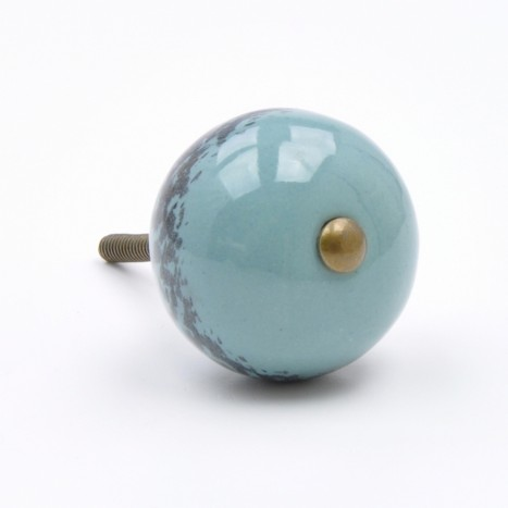 Vintage Blue Ceramic Knobs