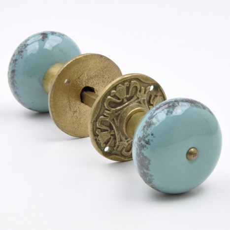 Pump House Stone Door Knob Set