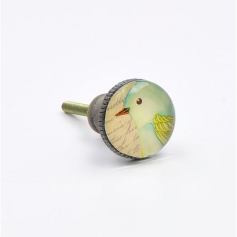 Green Bird Cabinet Knobs