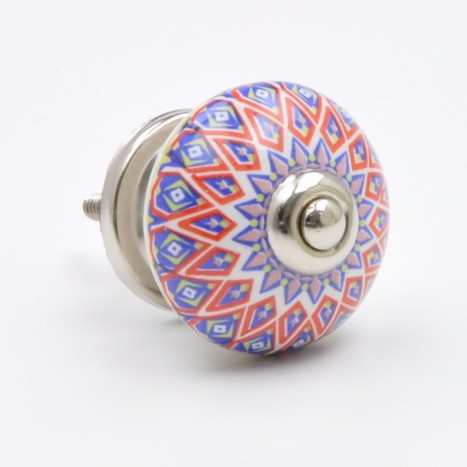 Colourful Patterned Ceramic Knob